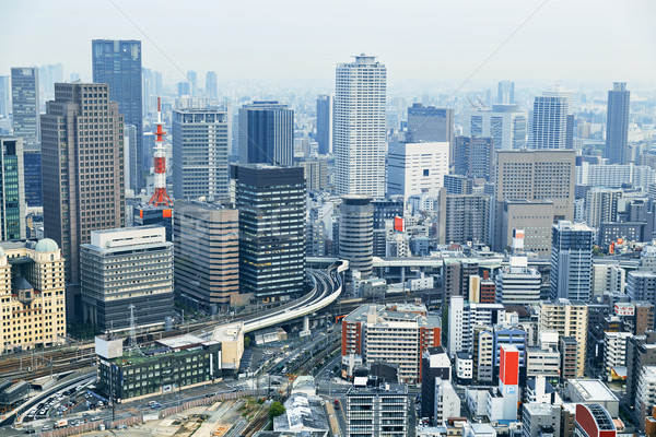 Osaka ville centre-ville Skyline district Photo stock © cozyta