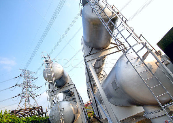 gas container and power tower Stock photo © cozyta