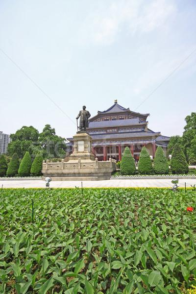 Nap előcsarnok Kína égbolt virágok ház Stock fotó © cozyta