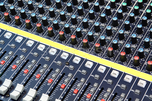 buttons equipment in audio recording studio Stock photo © cozyta