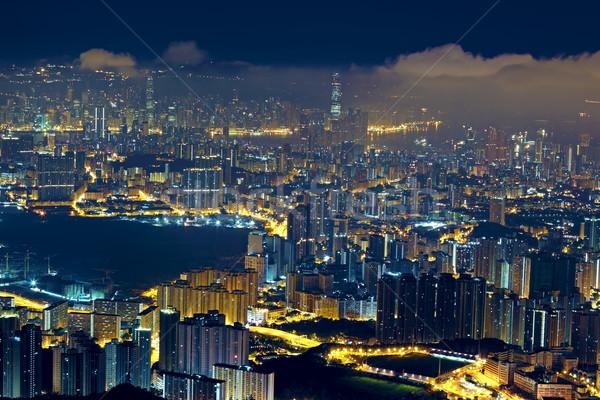 Hong Kong City Night woon- stad muur licht Stockfoto © cozyta