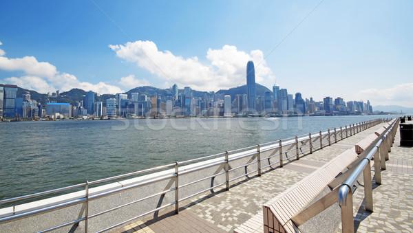 Chine Hong-Kong bord de l'eau bâtiments maison bâtiment Photo stock © cozyta