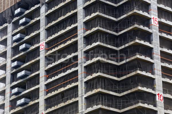 Crane and building construction site Stock photo © cozyta