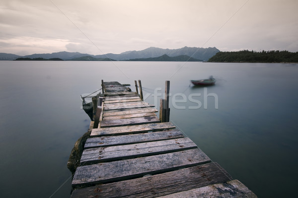 Jetty on a lake  Stock photo © cozyta