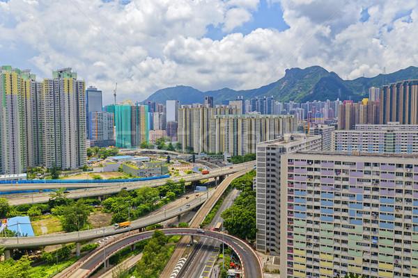 hong kong public estate buildings Stock photo © cozyta