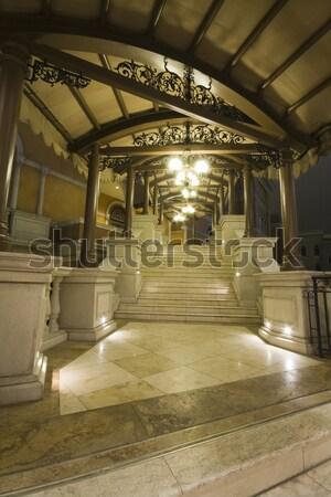 Bâtiment Hong-Kong nuit affaires bureau bâtiments Photo stock © cozyta