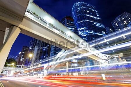 Сток-фото: светофора · улице · современное · здание · небе · дерево · здании