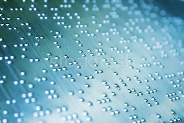 Plain Braille Page Macro Stock photo © cozyta