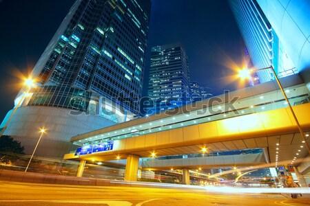 Ruchu Night City działalności biuro streszczenie świetle Zdjęcia stock © cozyta