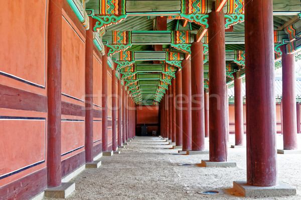 hallway in the korean ancient palace Stock photo © cozyta