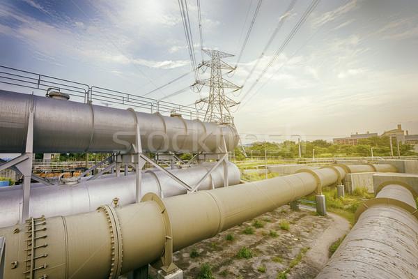 Güç kule teknoloji Metal duman Stok fotoğraf © cozyta
