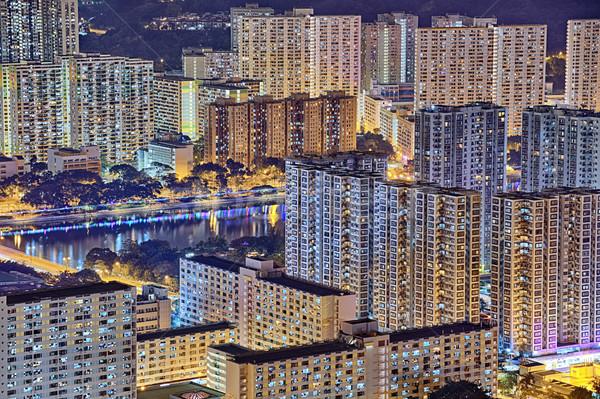 hong kong night Stock photo © cozyta
