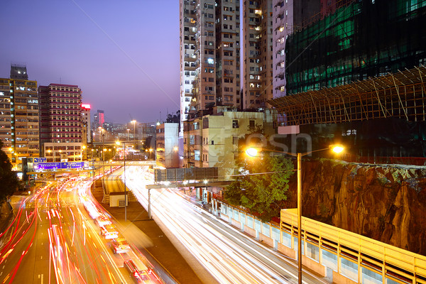 Busy traffic hour in sunset momentt Stock photo © cozyta