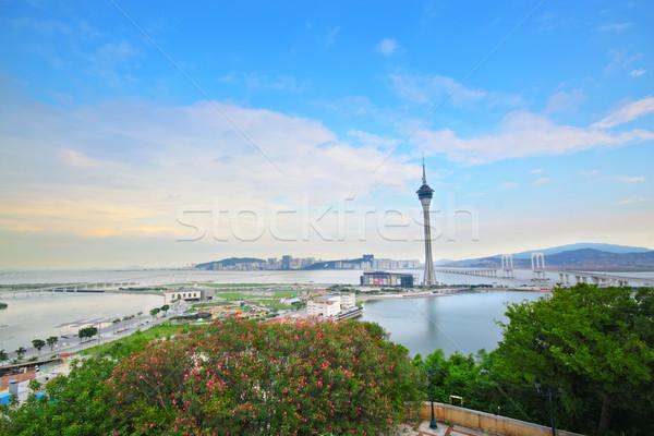 Torony illemszabály furgon híd épület város Stock fotó © cozyta