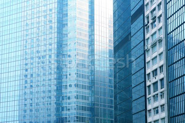 Modern bina mavi iş gökyüzü inşaat soyut Stok fotoğraf © cozyta