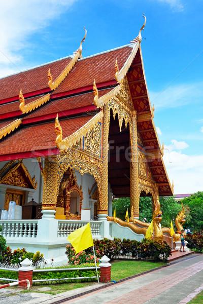 Thai northern style church of Wat chadi liam in Chiang Mai Thail Stock photo © cozyta