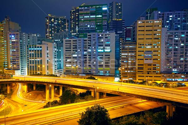 urban area dusk, busy traffic  Stock photo © cozyta