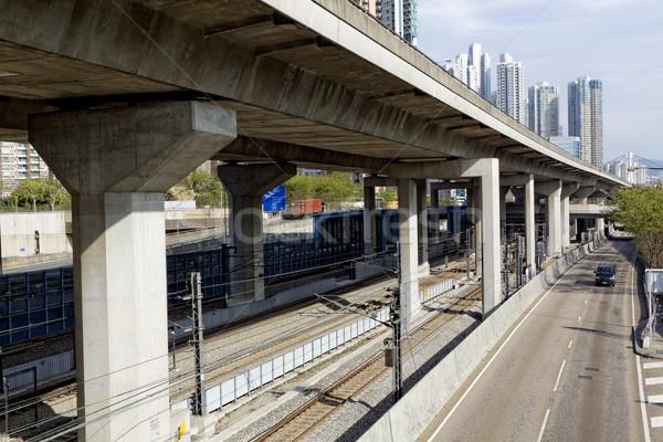 Freeway Overpasses and Train Tracks  Stock photo © cozyta