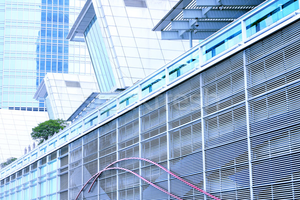 современное здание синий небе строительство аннотация зданий Сток-фото © cozyta