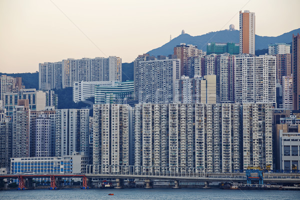 Hong Kong public house sunset Stock photo © cozyta