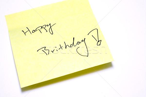 Notatka papieru blisko shot szczęśliwy świetle Zdjęcia stock © cozyta