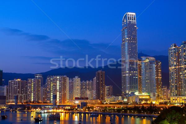Twilight blue hour at hongkong downtown.  Stock photo © cozyta