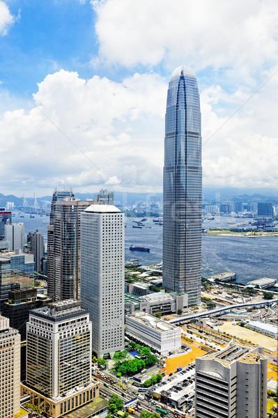 Hong Kong Asia ciudad día resumen azul Foto stock © cozyta