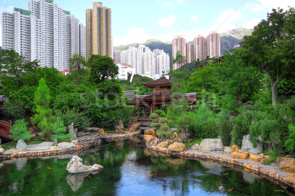 chinese style park in city Stock photo © cozyta