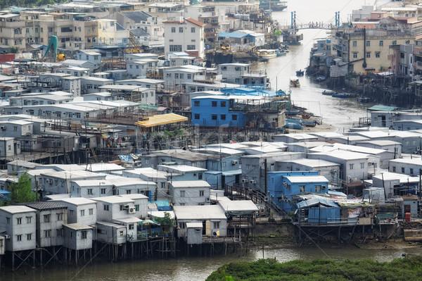 Tai O, an fishing village in Hong Kong. Stock photo © cozyta