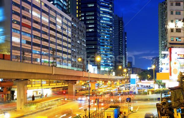 HongKong downtown busy traffic night Stock photo © cozyta