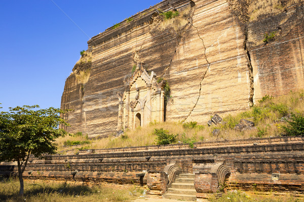 Mingun Pahtodawgyi Temple in Mandalay, Myanmar Stock photo © cozyta