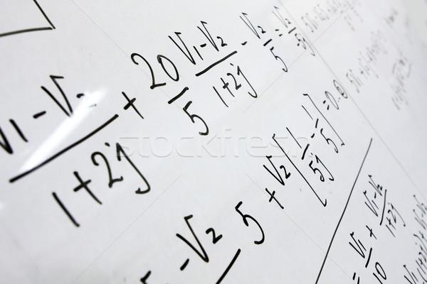 Képletek tábla tanár ipar tanulás fehér Stock fotó © cozyta