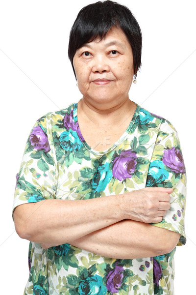 Asian donna bianco felice capelli bellezza Foto d'archivio © cozyta