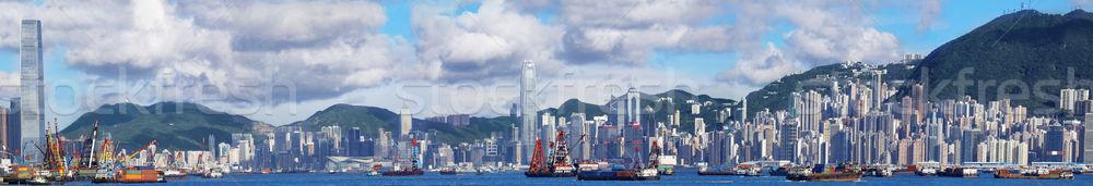 Hong-Kong panoramique Skyline jour ville mer Photo stock © cozyta