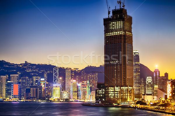 hong kong habour sunset Stock photo © cozyta