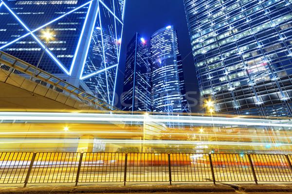 à grande vitesse trafic floue lumière scène de nuit voiture Photo stock © cozyta