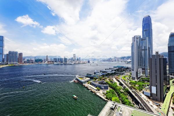 香港 市 日 都市 ビジネス 水 ストックフォト © cozyta