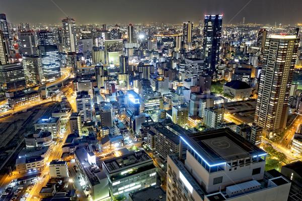 Осака ночному городу Япония ориентир бизнеса Сток-фото © cozyta