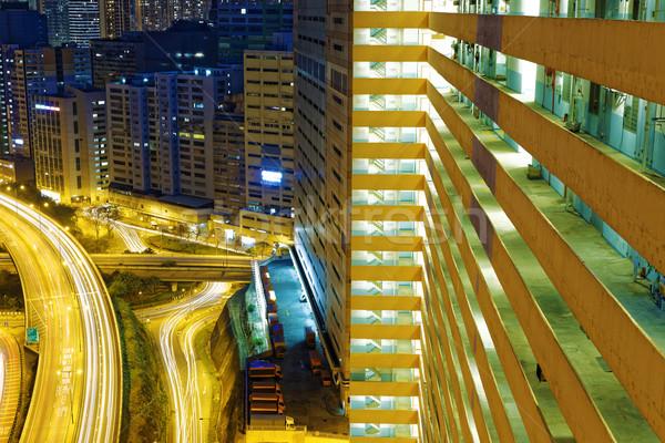Сток-фото: занят · движения · ночь · Финансы · городского · Гонконг
