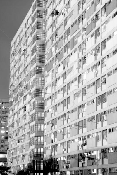 It is Hong Kong public housing apartment block Stock photo © cozyta