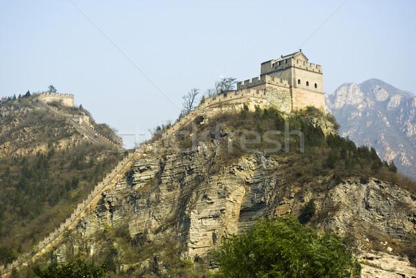 Nagy Fal Kína égbolt természet tájkép hegy Stock fotó © cozyta