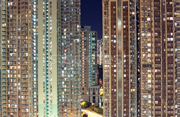 Hong-Kong public logement appartement ciel maison Photo stock © cozyta