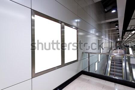 Billboard treinstation weg stad straat glas Stockfoto © cozyta