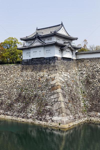 Osaka kale ağaç Bina manzara yaz Stok fotoğraf © cozyta