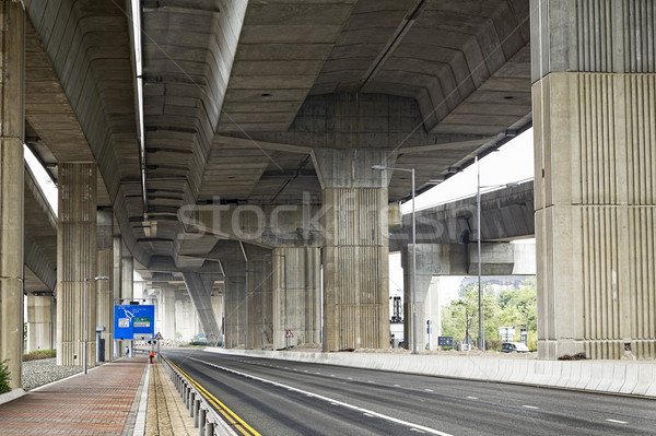 Empty asphalt road under the new expressway line.  Stock photo © cozyta