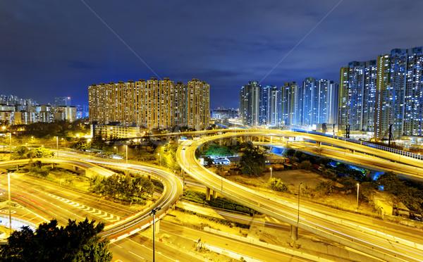 занят движения ночь Финансы городского шоссе Сток-фото © cozyta