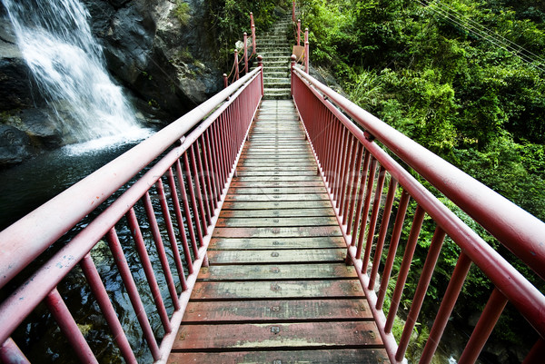 wood drawbridge in hong kong at summer Stock photo © cozyta
