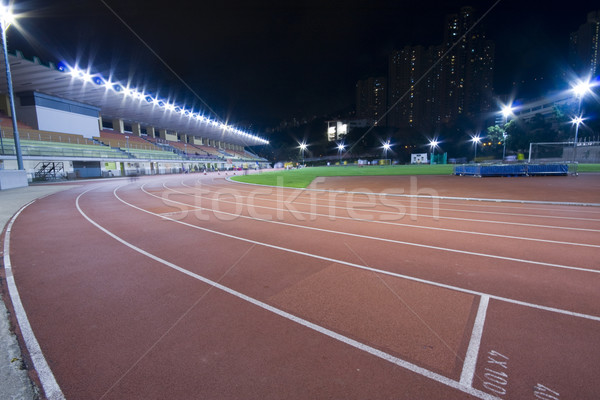 Running lanes on a track in play gorund  Stock photo © cozyta