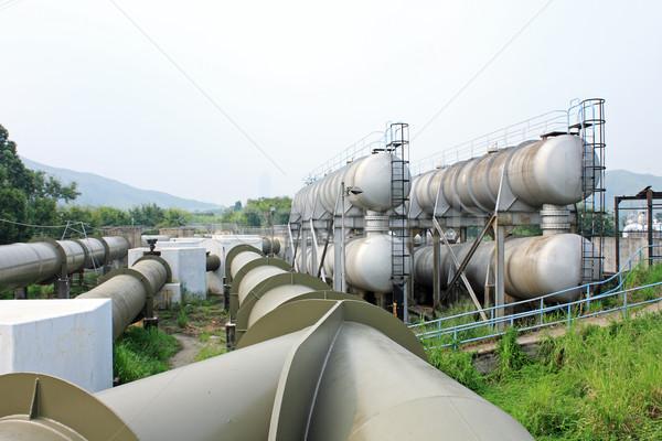 Foto stock: Alto · tubo · linha · água · Óleo · poder