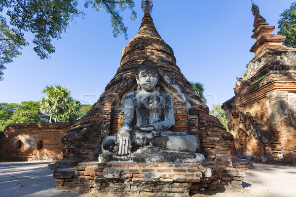 Buddha brug reizen standbeeld godsdienst stijl Stockfoto © cozyta